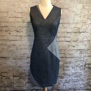 Elie Tahari Stretch Denim Sheath Dress